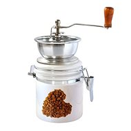 Toro Coffee Grinder, Porcelain, Stainless Steel, Heart Motif