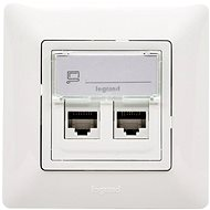 Legrand VALENA LIFE Data socket 2xRJ45 Cat.5e UTP Set White - Socket
