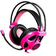C-TECH Helios black and pink - Headphones with Mic
