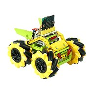 Mecanum bugina with 360 ° movement - yellow (without micro: bit) - Programmable Building Kit