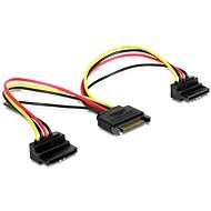 C Tech Sata Power to 2x SATA 90° splitter 15cm - Extension Cable