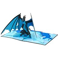 3D Ice Dragon Greeting Card - Gift Card