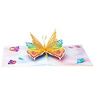 Happy Butterfly 3D Card - Gift Card