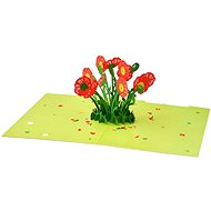 3D Greeting Card Poppies - Gift Card