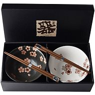 Made In Japan Cherry Blossom Bowl Set with Chopsticks 500ml 2 pcs - Bowl Set