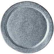 Made In Japan Craft Black Round Plate 24.5cm - Plate