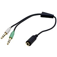 OEM Audio 4-pole 3.5mm Jack ->2x 3.5mm Jack - Adapter