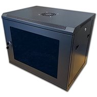 "19"" RACK single piece 6U black - Rack"