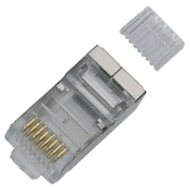 100-pack, Datacom, RJ45, CAT6, STP, 8p8c, Shielded, On Wire