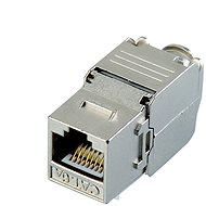 Datacom Keystone RJ45 STP CAT6A Self-cutting SILVER