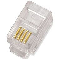 100-pack, Datacom, RJ10, CAT3, UTP, 4p4c, Unshielded, Cable (Stranded) - Connector