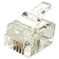 10-pack, Datacom, RJ11, CAT3, UTP, 6p4c, Unshielded, Stacked, Stranded - Connector