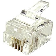 100-pack, Datacom, RJ11, CAT3, UTP, 6p4c, Unshielded, Stacked, Stranded - Connector
