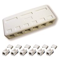 Datacom, CAT6, UTP, 6x RJ45, plaster-mounted - Socket