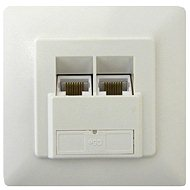 Datacom, CAT5E, STP, 2x RJ45, recessed - Socket