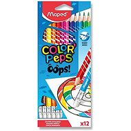 Maped Color´Peps Oops Woodless with Rubber, 12 colours