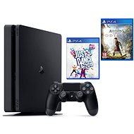 PlayStation 4 Slim 500 GB + Assassin's Creed Odyssey + Just Dance 2019 - Game Console