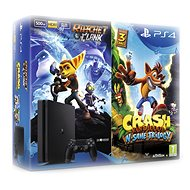 PlayStation 4 - 500GB Slim + 2 games: Crash Bandicoot N. Sane Trilogy + Ratchet&Clank - Game Console