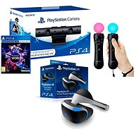 PlayStation VR for PS4 + VR Worlds game + PS4 camera + PS MOVE Twin Pack - VR Headset