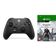 Xbox Wireless Controller Carbon Black + Assassin's Creed Valhalla - Gamepad