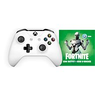 Xbox One Wireless Controller White + Fortnite Eon Bundle - Gamepad