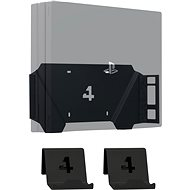 4mount - Wall Mount for PlayStation 4 Pro, Black + 2x Controller Mount - Wall Mount