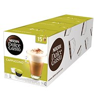 Nescafe Dolce Gusto Cappuccino Pack of 3 (Total 90 Capsules, 45 Servings) - Coffee Capsules