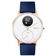 Nokia Steel HR (36mm) Rose Gold/Blue Leather/Grey Silicone wristband - Smartwatch