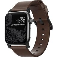 Nomad Leather Strap Brown, black - AW 44/42 mm