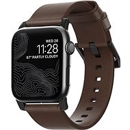 Nomad Leather Strap Modern Brown Black Hardware Apple Watch 40/38mm - Watch band