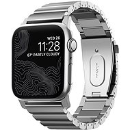 Nomad Titanium Band Silver Apple Watch 44/42mm - Watch band