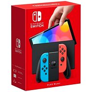 Nintendo Switch (OLED Model) Neon Blue/Neon Red - Game Console