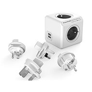 PowerCube Rewirable USB + Travel Plugs - Grey - Socket