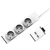 Allocacoc PowerStrip Modular Switch Set 1.5m + USB Module - Socket