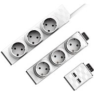 PowerStrip Modular Switch 1.5m + Strip Module + 1x USB Module - Socket