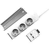 Allocacoc PowerStrip Modular Switch 1,5m + USB Modul + PowerStrip Rail - Socket