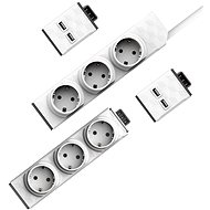 PowerStrip Modular Switch 1.5m + Strip Module + 2x USB Module - Socket