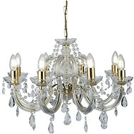 Searchlight - Crystal chandelier on a chain MARIE 8xE14 / 40W / 230V - Chandelier