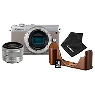 Canon EOS M100 Grey + EF-M 15-45mm IS STM Silver Value Up Kit - Digital Camera