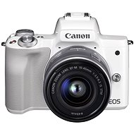 Canon EOS M50 White + EF-M 15-45mm IS STM - Digital Camera