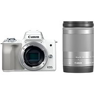 Canon EOS M50 White + EF-M 18-150mm IS STM - Digital Camera