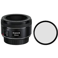 Canon EF 50mm f/1.8 STM + Polaroid UV Filter - Lens