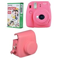 Fujifilm Instax Mini 9 Pink + 10x Photo Paper + Case