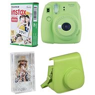 Fujifilm Instax Mini 9 Lime + 10x Photo Paper + Case - Instant Camera