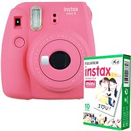 Fujifilm Instax Mini 9 Pink + 10x Photo Paper - Instant Camera