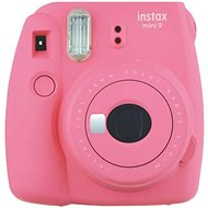 Fujifilm Instax Mini 9 Flamingo Pink + Film 1x10 - Instant Camera