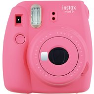 Fujifilm Instax Mini 9 Flamingo Pink + Film 1x10 + Case - Instant Camera