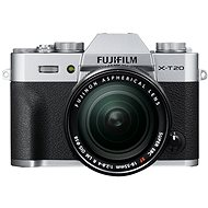 Fujifilm X-T20 Silver + XF 18-55mm F 2.8-4 R LM OIS - Digital Camera