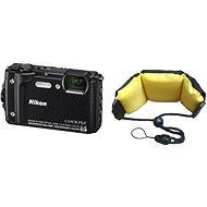 Nikon COOLPIX W300 black + 2-in-1 Floating Strap - Digital Camera