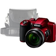Nikon COOLPIX B600 Red + Case - Digital Camera